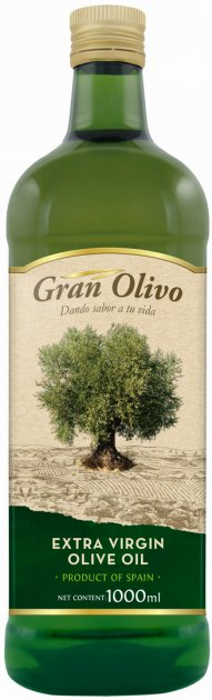 Оливковое масло Gran Olivo Extra virgin нерафинированное 1 л (8410352009798)