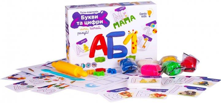 Набор для детской лепки Genio Kids Буквы и цифры (TA1083_UA) (4814723006463) - изображение 1