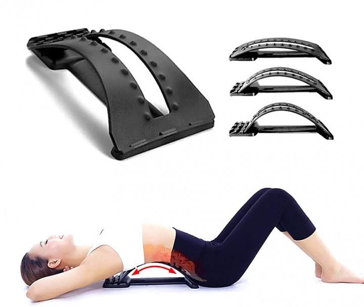Тренажер Місток Back Support Magic 3-х рівневий масажер для спини і хребта Чорний - зображення 1