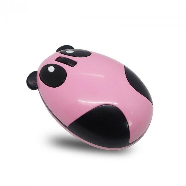 Бездротова bluetooth миша Панда з вбудованим акумулятором Chyi рожева - зображення 1