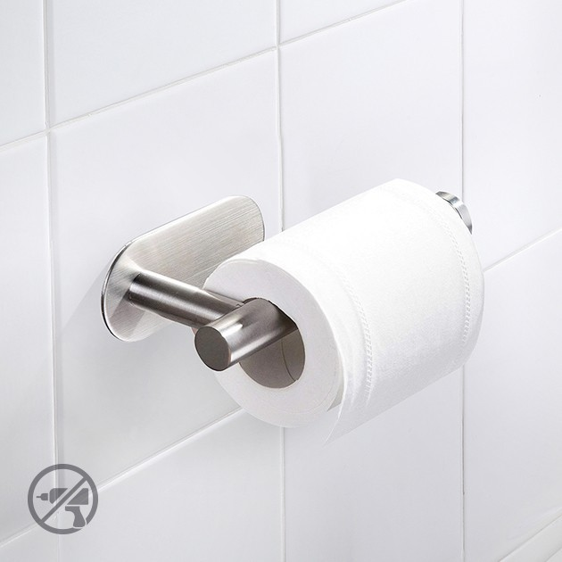 Тримач для туалетного паперу з нержавіючої сталі настінний MVM BSS-1 - зображення 1