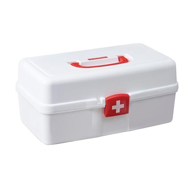 Аптечка, большой органайзер для медикаментов пластиковый белый MVM PC-10 WHITE - изображение 1