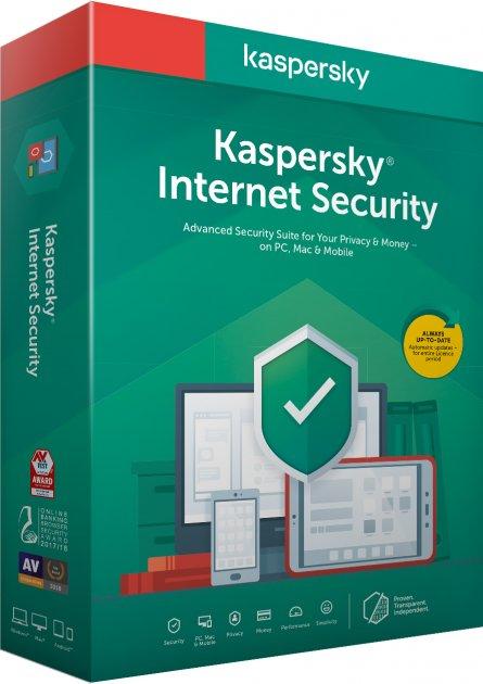 Kaspersky Internet Security 2020 для всіх пристроїв, перше встановлення на 1 рік для 5 ПК (DVD-Box, коробкова версія) - зображення 1