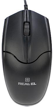 Миша Real-El RM-410 Silent USB Black (EL123200025) - зображення 1