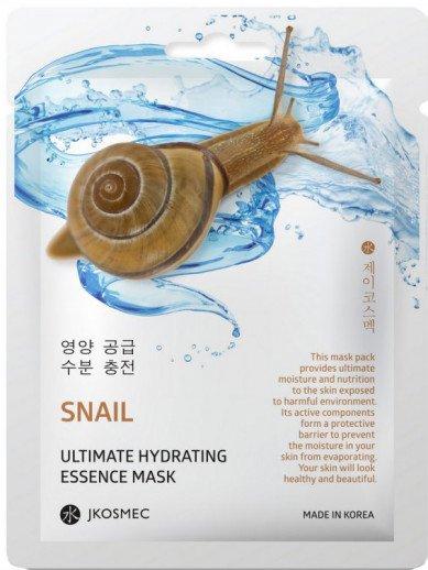 Ежедневная увлажняющая маска с муцином улитки Jkosmec Snail Ultimate Hydrating Essence Mask 28 мл (8809540516796) - изображение 1