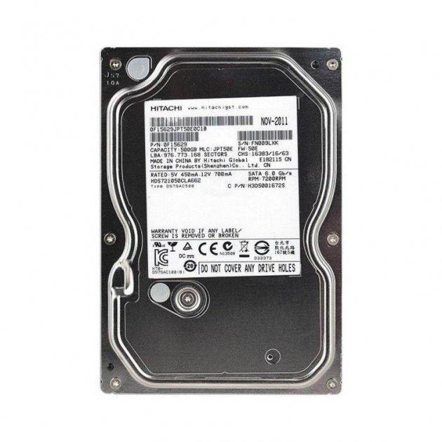 Жесткий диск Hitachi 3.5 500Gb (HDS721050CLA662), factory refurbished - зображення 1