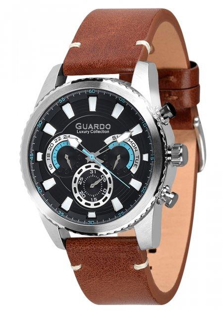 Часы мужские Guardo S01896-1 серебристые - изображение 1