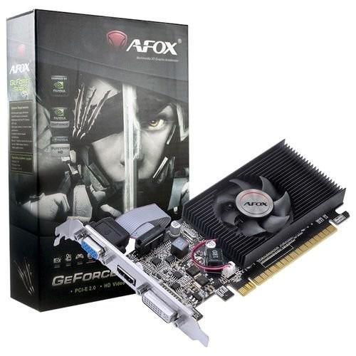 Видеокарта AFOX, GeForce 210, 1Gb GDDR3, 64-bit, VGA/DVI/HDMI, 589/1000 MHz, Low Profile (AF210-1024D3L8) - зображення 1