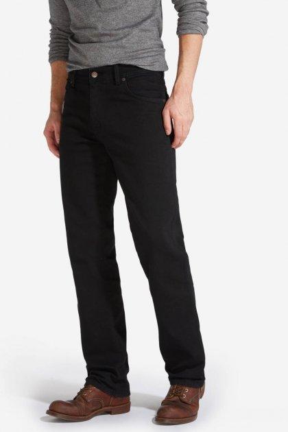 Джинси Wrangler Texas Straight Classic Fit W12109004 Чорний 38-34 - зображення 1