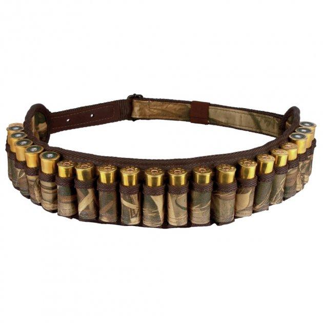Патронташ Відкритий Bronzedog з Поліестеру на 24 патрони 12/16 калібр Коричневий (8092) - зображення 1