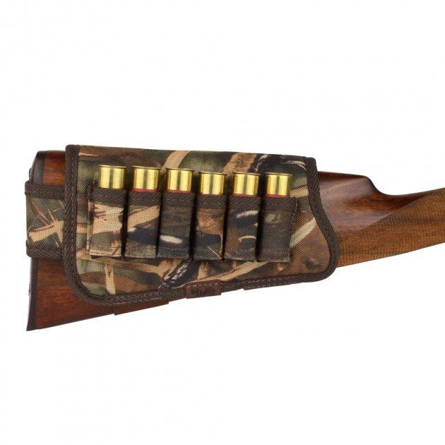Патронташ на Приклад из Полиэстера Bronzedog Правша 6 патронов калибр 12/16 Коричневый (8102) - изображение 1