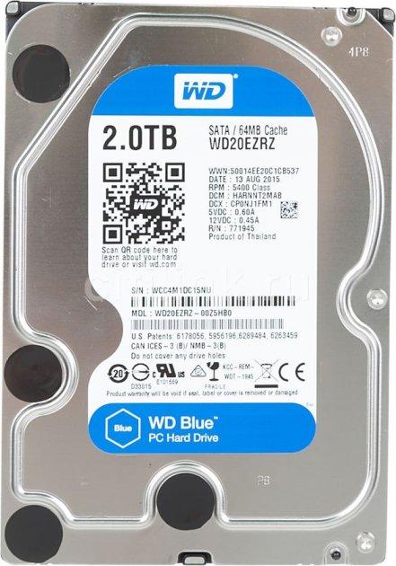 """Жорсткий диск 3.5"""" 2Tb WD WD20EZRZ Blue - зображення 1"""