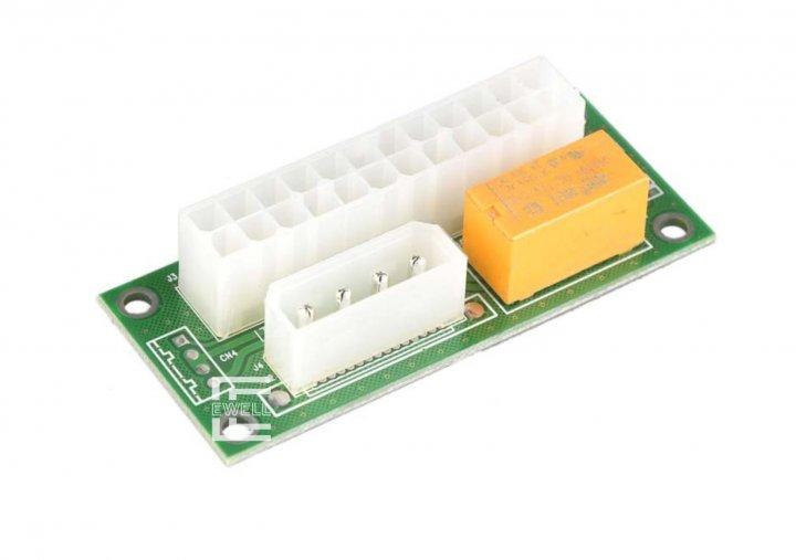 Адаптер-синхронізатор блоків живлення Ewell ATX 24 Pin to Molex (EW144) - зображення 1