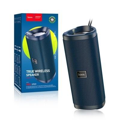 Беспроводная колонка Hoco True Wireless IPX5|BT, TWS, AUX, FM, TF, USB|Dark blue - изображение 1