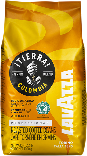Кава в зернах Lavazza Tierra Colombia 100% Arabica 1 кг (8000070017412) - зображення 1