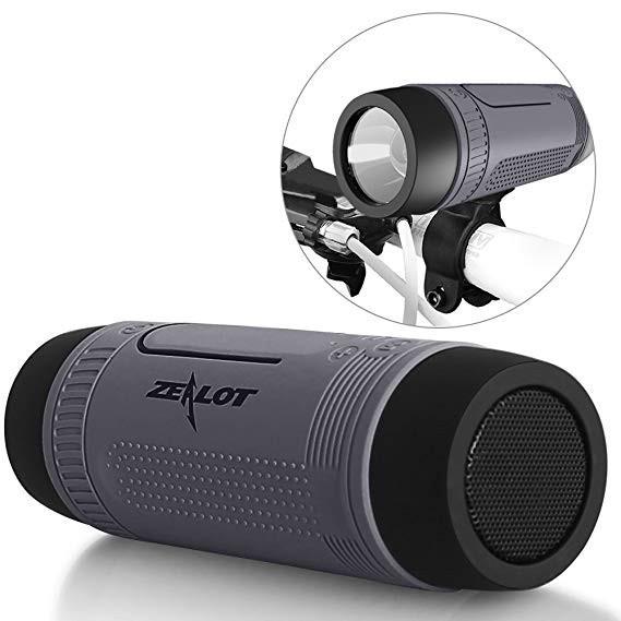 Беспроводная велосипедная bluetooth колонка ZeaLot S1 Серая - изображение 1