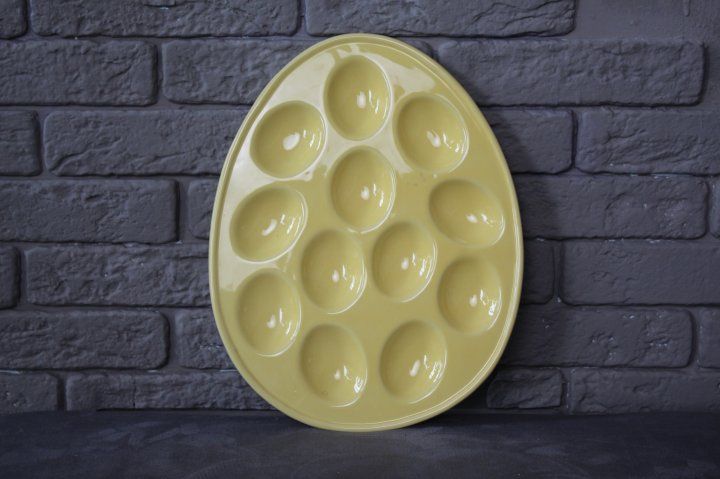 Тарілка Ewax пасхальна овальна жовта на 12 яєць 6326-2 - изображение 1