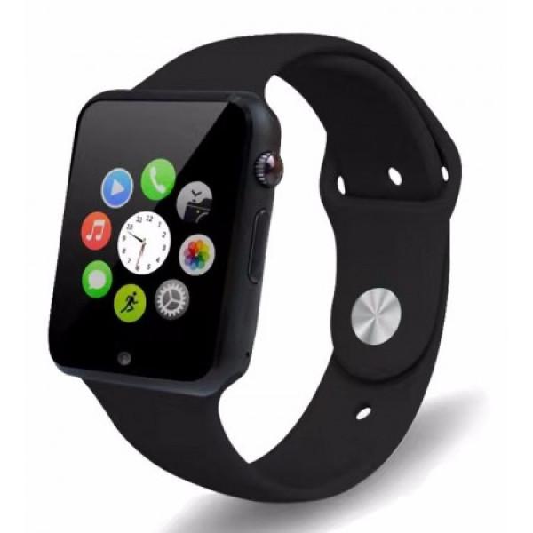 Розумні Годинник Smart Watch А1 Pro на Android з Bluetooth microSD крокомір камера Turbo Black GSO 305-648 - зображення 1