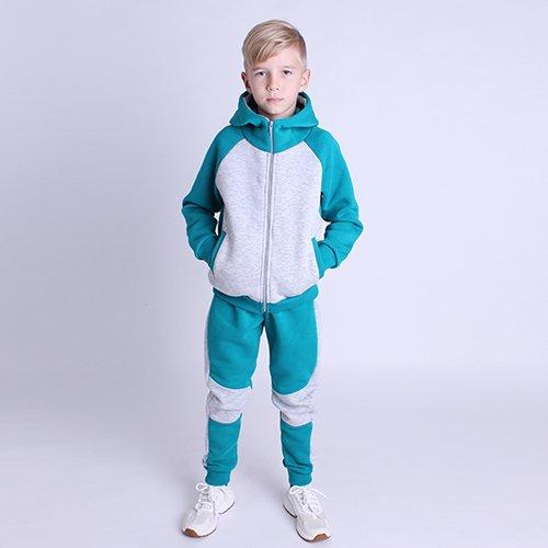 Спортивный костюм Дрёма 122-128 см Бирюзовый с серым (2410) - изображение 1
