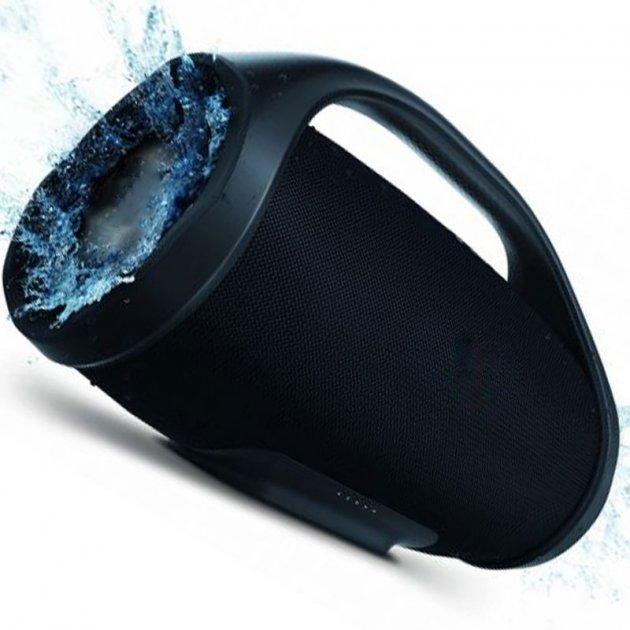 Портативна бездротова bluetooth стерео колонка T&G Boombox Чорна (Boombox Black) - зображення 1
