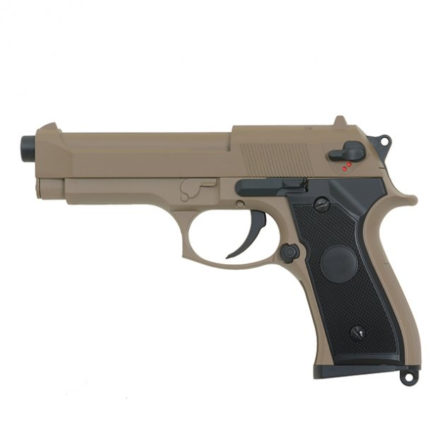Пістолет Cyma Beretta M92F/M9 CM.126 Tan AEP (Страйкбол 6мм) - зображення 1