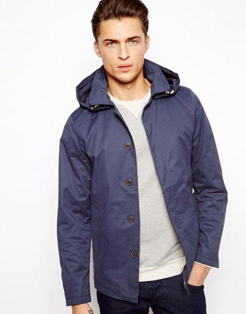 Куртка з капюшоном Pull & Bear AS456279 S (11385S) Синій - зображення 1