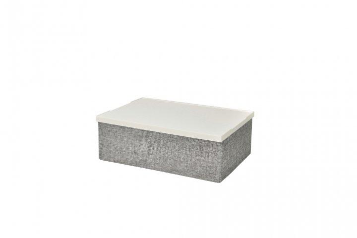 Короб сірий складаний з пластиковою кришкою Handy Home 33x23x11 EH-02S - зображення 1