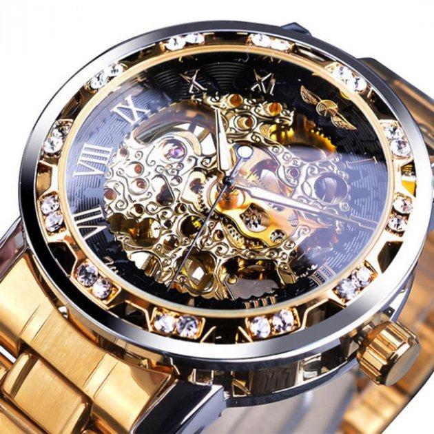 Механічний годинник Winner Diamonds (gold) - зображення 1