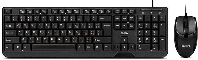 Комплект дротовий Sven KB-S330C USB Black - зображення 1