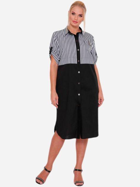 Платье-рубашка VLAVI Лана 1229001 58 Черное - изображение 1