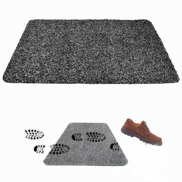 Супервпитывающий придверный коврик Clean Step Mat Серый - изображение 1
