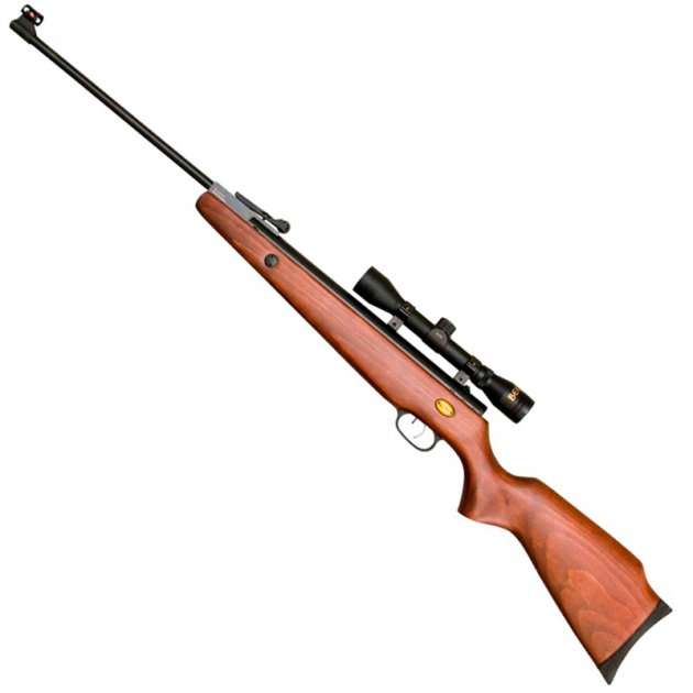 Гвинтівка пневматична з оптичним прицілом Beeman Teton (4x32, 4.5 мм), газова пружина - зображення 1