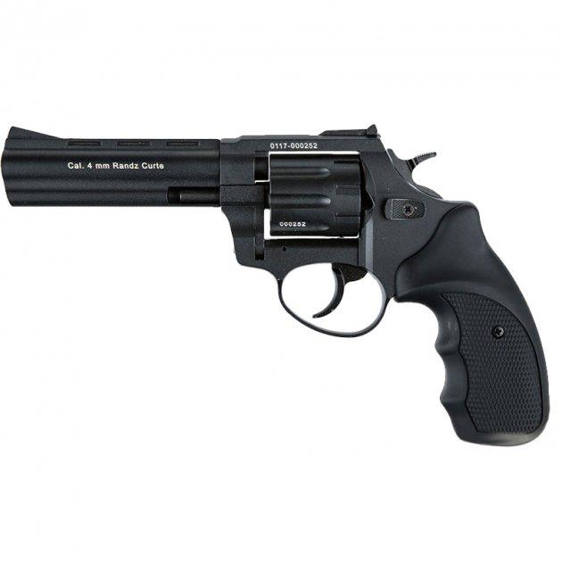"""Револьвер під патрон Флобера Stalker S (4.5"""", 4.0 mm), ворон-чорний - зображення 1"""