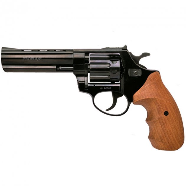 """Револьвер під патрон флобера PROFI (4.5"""", 4.0 мм), ворон-бук - зображення 1"""