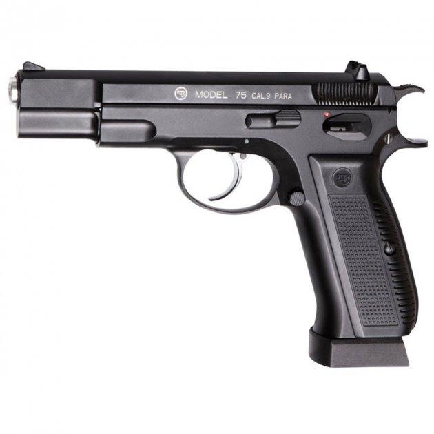 Пистолет пневматический ASG CZ 75 Blowback (4,5mm), черный - изображение 1