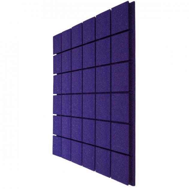 Панель Плитка 600х600х30 мм з негорючого акустичного поролону EchoFom Brilliance, фіолетовий - зображення 1