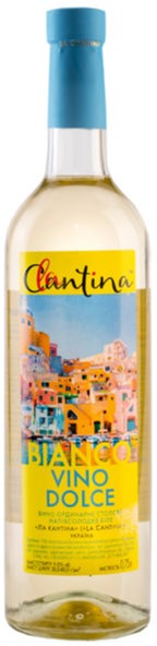 Вино La Cantina Vino Dolce Bianco белое полусладкое 9-13% 0.75 л (4820136353193) - изображение 1