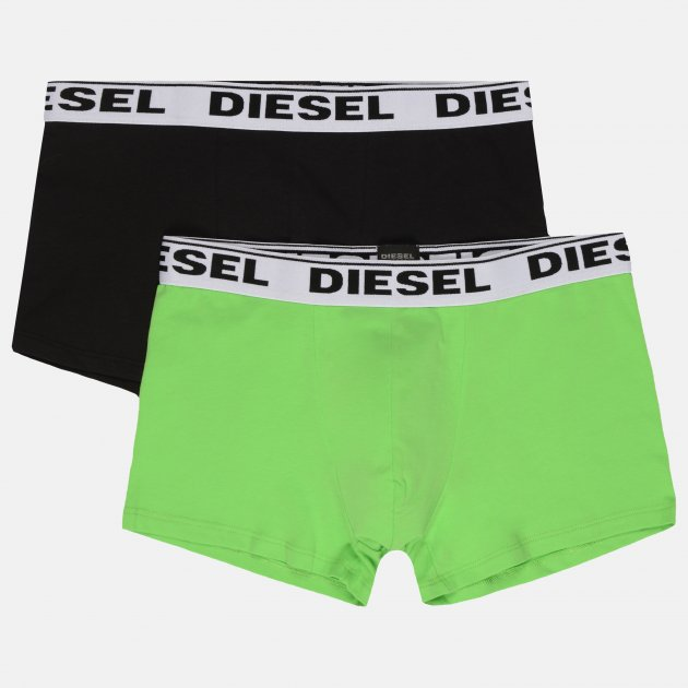 Трусы-шорты Diesel Umbx-Korytwopack Boxer 2pack 00CGDH/RQARZ/E2000 XS Черный/Зеленый (8053837523992) - изображение 1