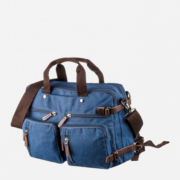 Мужская сумка Vintage leather-20153 Синяя - изображение 1