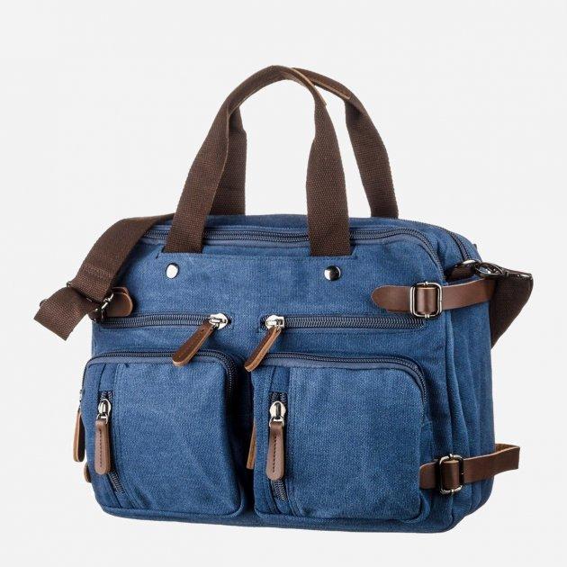 Мужская сумка Vintage leather-20147 Синяя - изображение 1