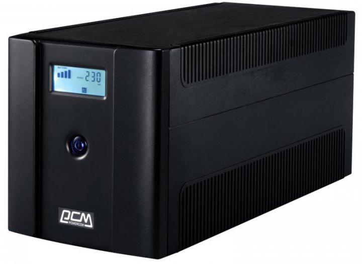 ДБЖ Powercom RPT-2000AP LCD Schuko - зображення 1