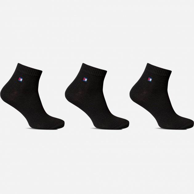 Носки Лео Lycra Спорт Томми 42-44 3 пары Черные (ROZ6400005504) - изображение 1