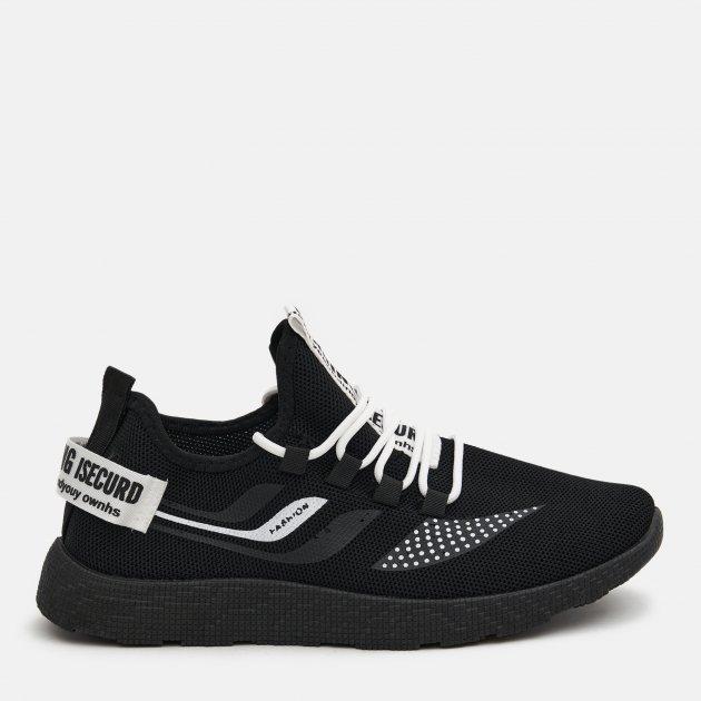 Кроссовки Ideal N34 46 28 см Черные с белым (2400000254362) - изображение 1