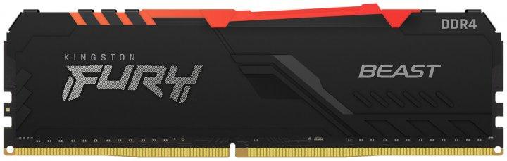 Оперативна пам'ять Kingston Fury DDR4-3733 16384 MB PC4-29864 Beast RGB Black (KF437C19BB1A/16) - зображення 1
