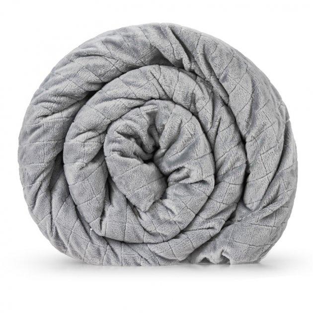 Утяжеленное (тяжелое) сенсорное одеяло GRAVITY 135x200см 12кг Серое - изображение 1