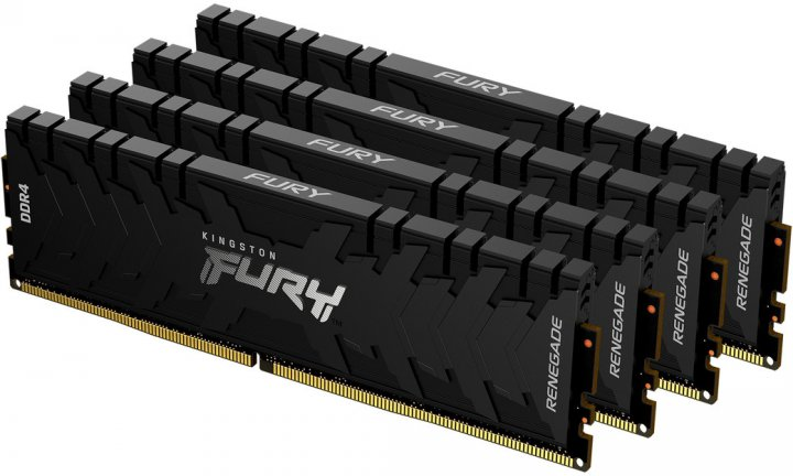 Оперативная память Kingston Fury DDR4-3000 131072MB PC4-24000 (Kit of 4x32768) Renegade Black (KF430C16RBK4/128) - изображение 1