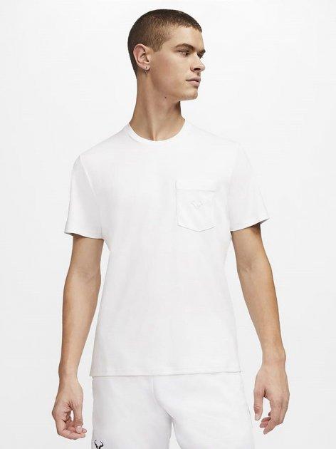 Футболка Nike Rafa Mens Short-Sleeve Tennis Top CZ0387-100 M (194276061329) - изображение 1