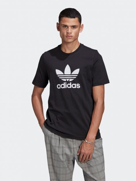 Футболка Adidas Trefoil T-Shirt GN3462 L Black/White (4064045910690) - изображение 1