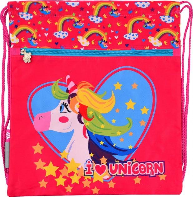 Сумка для обуви Yes SB-10 Unicorn Для девочек 40 х 35 (555345) - изображение 1