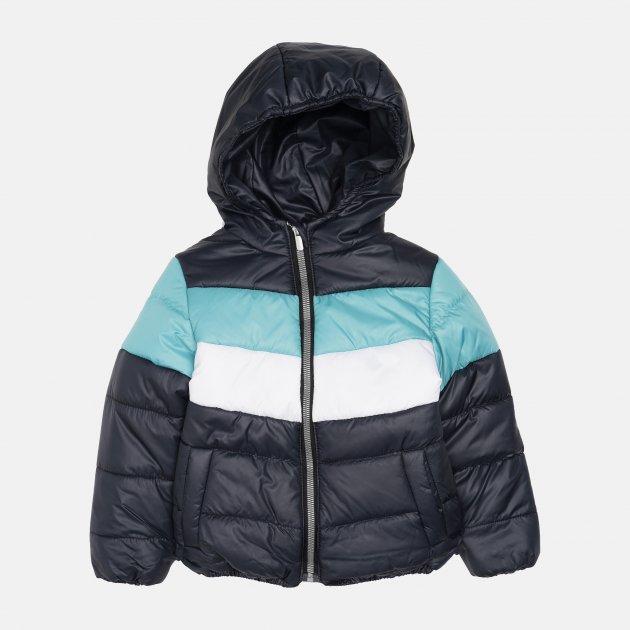 Демисезонная куртка Одягайко 22739 140 см Синяя с бирюзовым (ROZ6400141887)